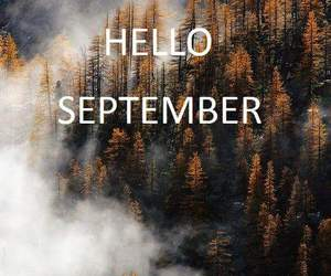 autumn, September, and hello september image