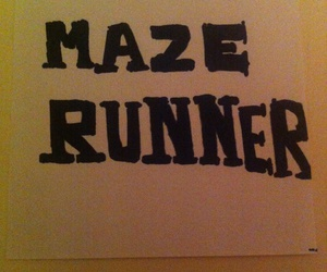 white and black, maze runner, and retrica image