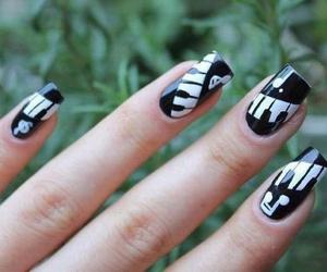 nails, music, and unhas image