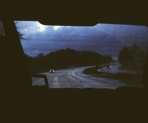 car, night, and road image