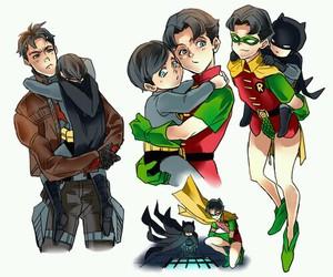 baby, batman, and bruce wayne image