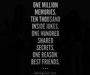 best friends, quote, and truth image