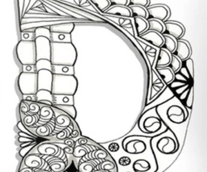 d and zentangle image