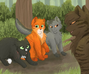 warrior cats, tigerclaw, and firepaw image