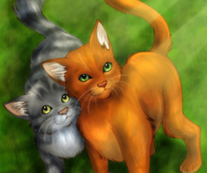 friends for ever, warrior cats, and firepaw image