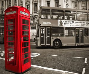 london, red, and bus image
