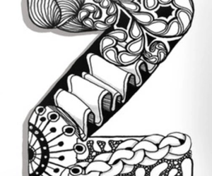z and zentangle image
