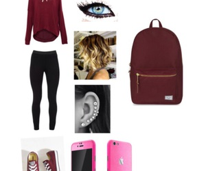 comfy, maroon, and school image