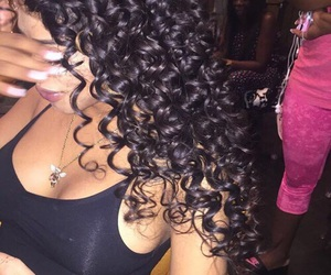 girl, curls, and hair image