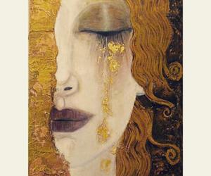 art, klimt, and yellow image