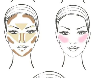 beauty, contour, and makeup image