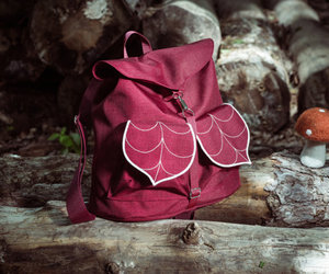 backpack, leaves, and back to school image