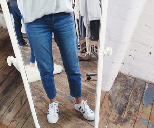 jeans, adidas, and fashion image