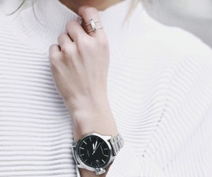 white, girl, and watch image