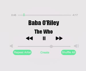 songs, the who, and baba o'riley image