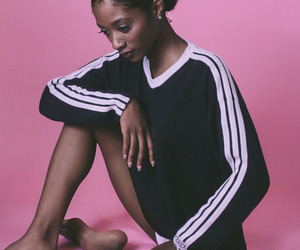 black woman, model, and casual image