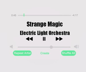 songs, electric light orchestra, and strange magic image