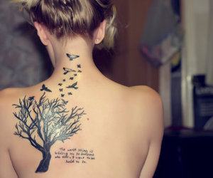 back tattoo, beautiful, and beauty image