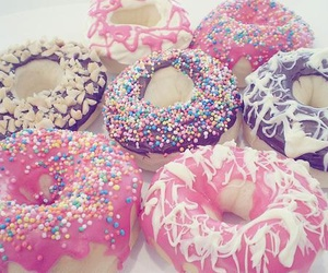 donuts, pink, and pretty image