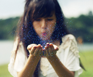 girl, glitter, and sparkle image