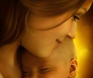 baby, mother, and child image