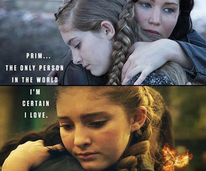 mockingjay, primrose everdeen, and sisters image