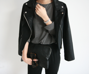 fashion, black, and casual image