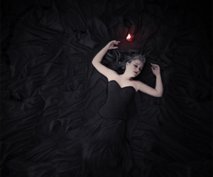 apple, dark, and fantasy image