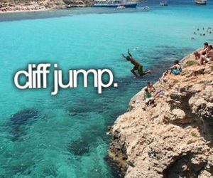 bucket list and cliff jump image