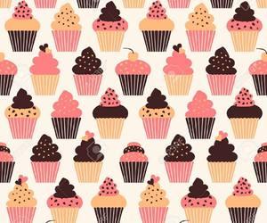 wallpaper and cupcake image