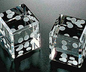 black and white, dice, and photography image