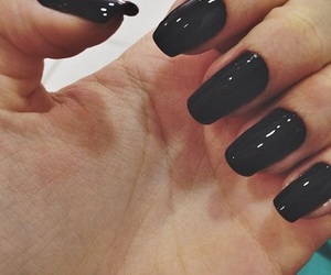 nails, black, and black nails image