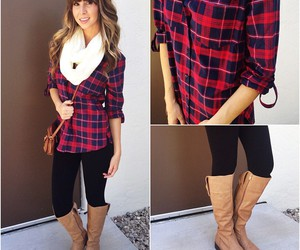 clothes, fall fashion, and plaid image