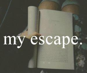 book, escape, and read image