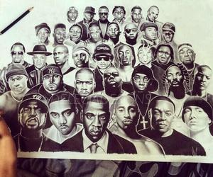 black man, hip-hop, and rapper image