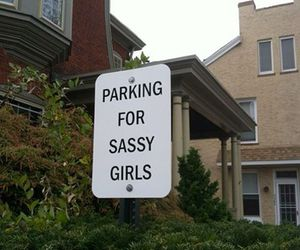 sassy, girl, and parking image