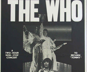 concert poster, john entwistle, and band image