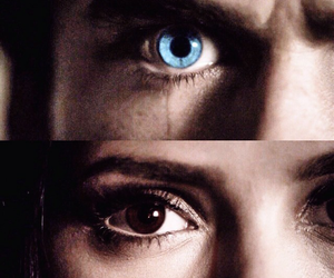 blue eyes, crying, and Vampire Diaries image