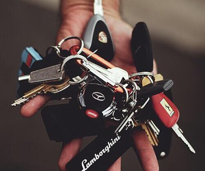 car, key, and Lamborghini image