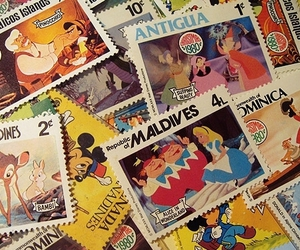 disney, stamp, and alice in wonderland image