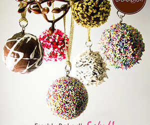 candy, ornaments, and chocolate image