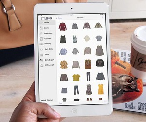 stylebook, capsule wardrobe, and ipad image