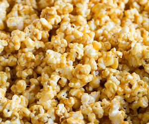 food, popcorn, and caramel image