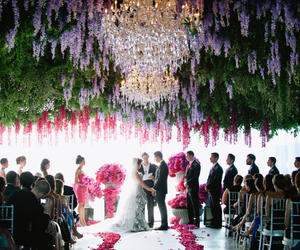 flower, party, and reception image