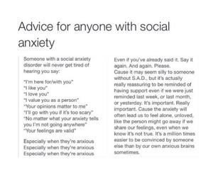 advice, anxiety, and feelings image