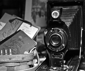 antique, black and white, and old image