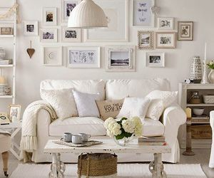 white, home, and living room image