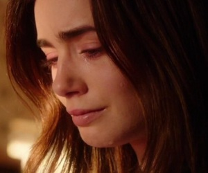 sad, lily collins, and love rosie image