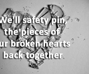 Lyrics, safety pin, and luke hemmings image