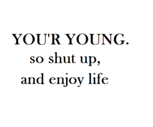 young, life, and enjoy image
